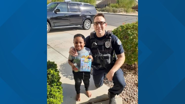 A 5-year-old boy dialed 911 for a Happy Meal, so an Arizona police officer took care of his 'emergency'