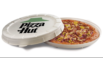 Pizza Hut testing plant-based sausage topping, round pizza boxes