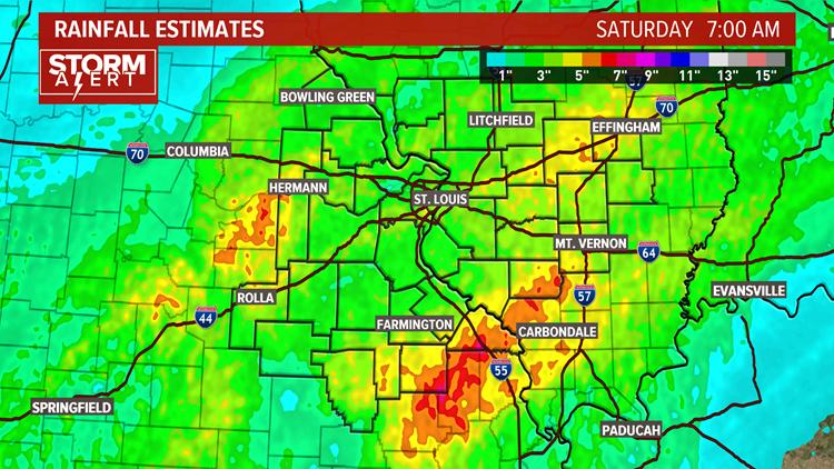 St. Louis rainfall estimates