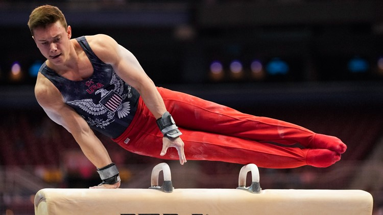 Brody Malone on course for Tokyo after 1st night of Olympics gymnastics trials