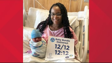 Baby born on 12/12 at 12:12 a.m. in O'Fallon, Illinois