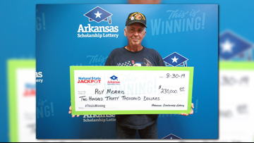 Arkansas veteran claims $230,000 in lottery jackpot