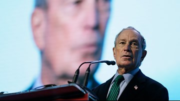 Democratic presidential candidate Mike Bloomberg makes campaign stop in Akron