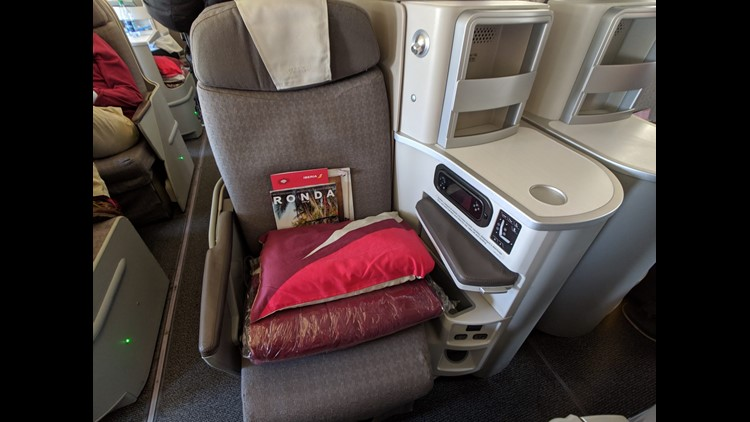 Redeeming Iberia Avios to fly business class to Europe is an absolute steal at only 34,000 miles one-way from Chicago or Boston. (Photo courtesy of Caroline Lupini/Million Mile Secrets.)