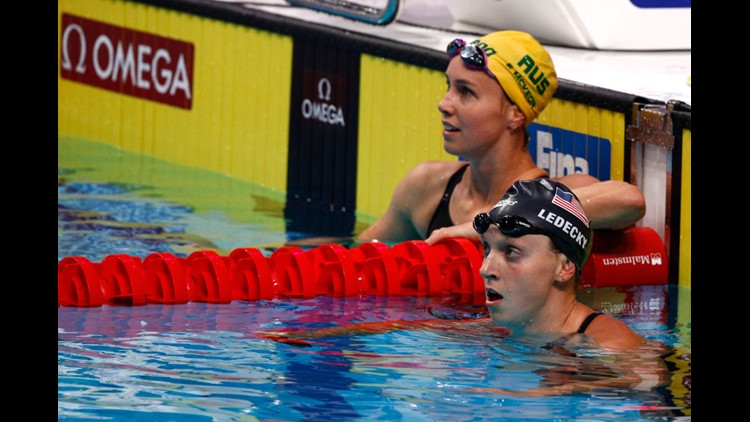 <p>Katie Ledecky had been a perfect 12 for 12 over her last three world championships.</p>