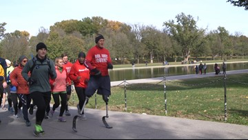 Double amputee veteran finishes 31 marathons in 31 days