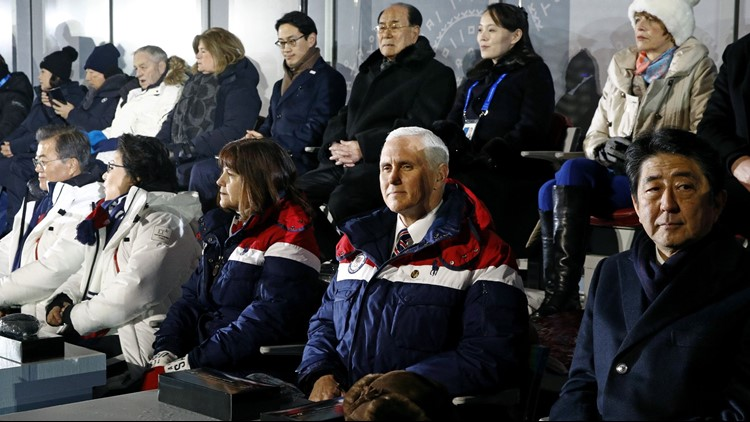 mike pence olympics opening ceremony