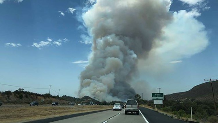 Southern California wildfire burns 400 acres of land, forces