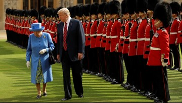 Trumps meet Queen Elizabeth II, treated to royal pomp, pageantry and tea