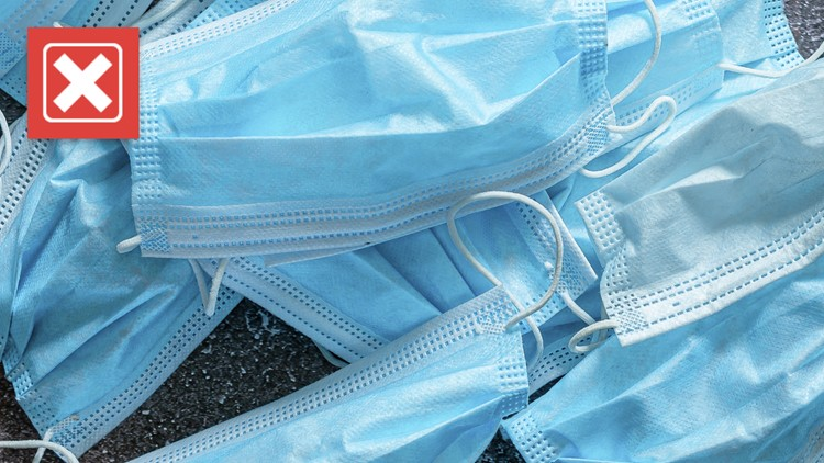 No, disposable masks can't be recycled at most municipal recycling centers