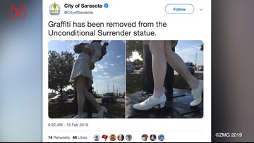 Vandals Spray Paint #MeToo On Iconic World War II Kissing Sailor Statue
