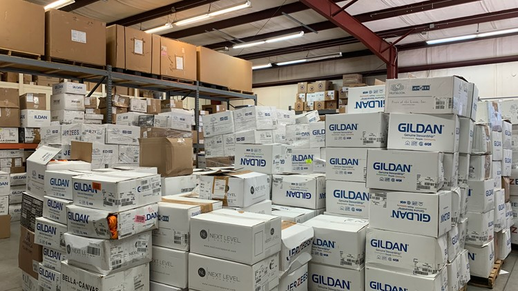 Threds, Inc. staff say they've never had so many boxes fill their warehouse