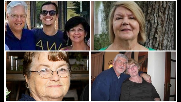 Confirmed victims of Smoky Mountain wildfires
