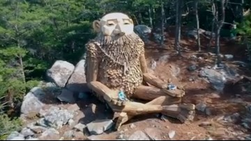 There's a giant troll sculpture hidden in the Smoky Mountains
