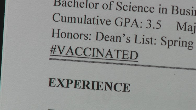 Job experts weigh in on whether you should put vaccine status on your resume
