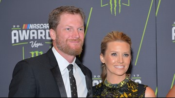 Dale Earnhardt Jr. apologizes to pregnant wife in Korean for eating her ice cream