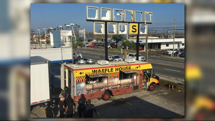 Waffle House opens free food truck for hurricane survivors in Panama City
