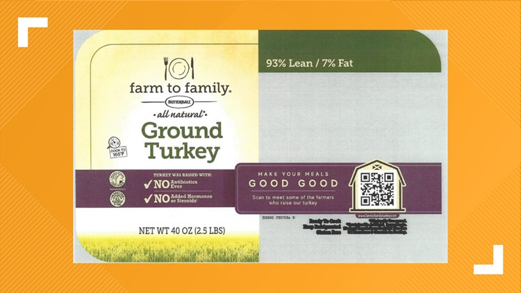 Butterball recalls 14,000 pounds of ground turkey for possible plastic contamination