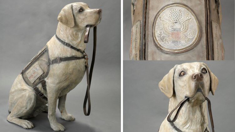 Statue of George H.W. Bush's beloved service dog Sully added to presidential library