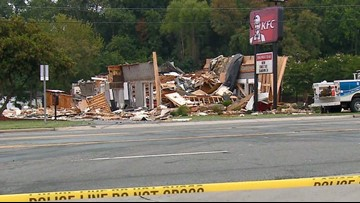 KFC restaurant destroyed in explosion