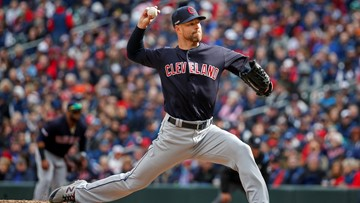 Indians ace Corey Kluber's arm healing, close to throwing in bullpen