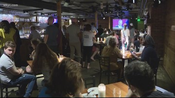 Democrat presidential debate watch party held at Market Garden Brewery