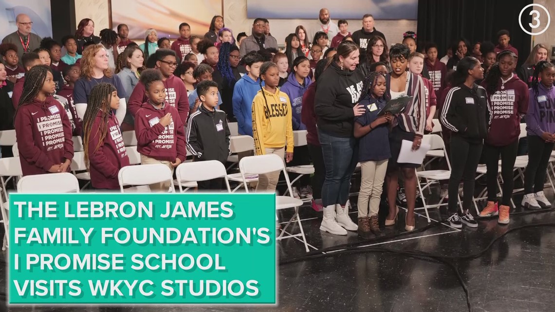 The LeBron James Family Foundation's I Promise School visits WKYC Studios
