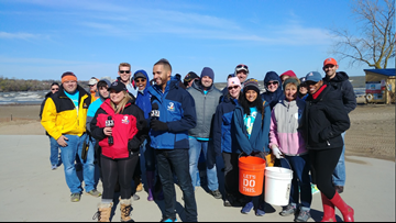 Beach Cleanup: Channel 3 employees gather at Edgewater to help the environment