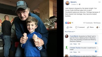 Liam Neeson visits Lakewood bowling alley while filming in Northeast Ohio