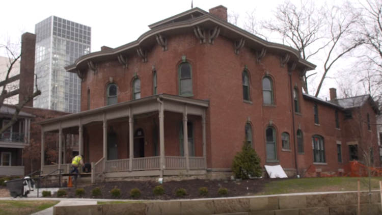 High school students learn about Underground Railroad at University Circle's Cozad-Bates House