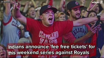 Cleveland Indians announce 'fee free tickets' for weekend series vs. Kansas City Royals