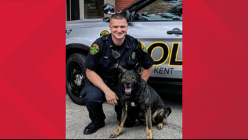 Kent police K-9 Iron retires after more than five years of service with the department