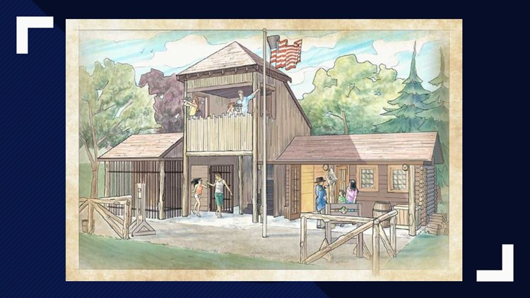 Forbidden Frontier sketch for Cedar Point 2019