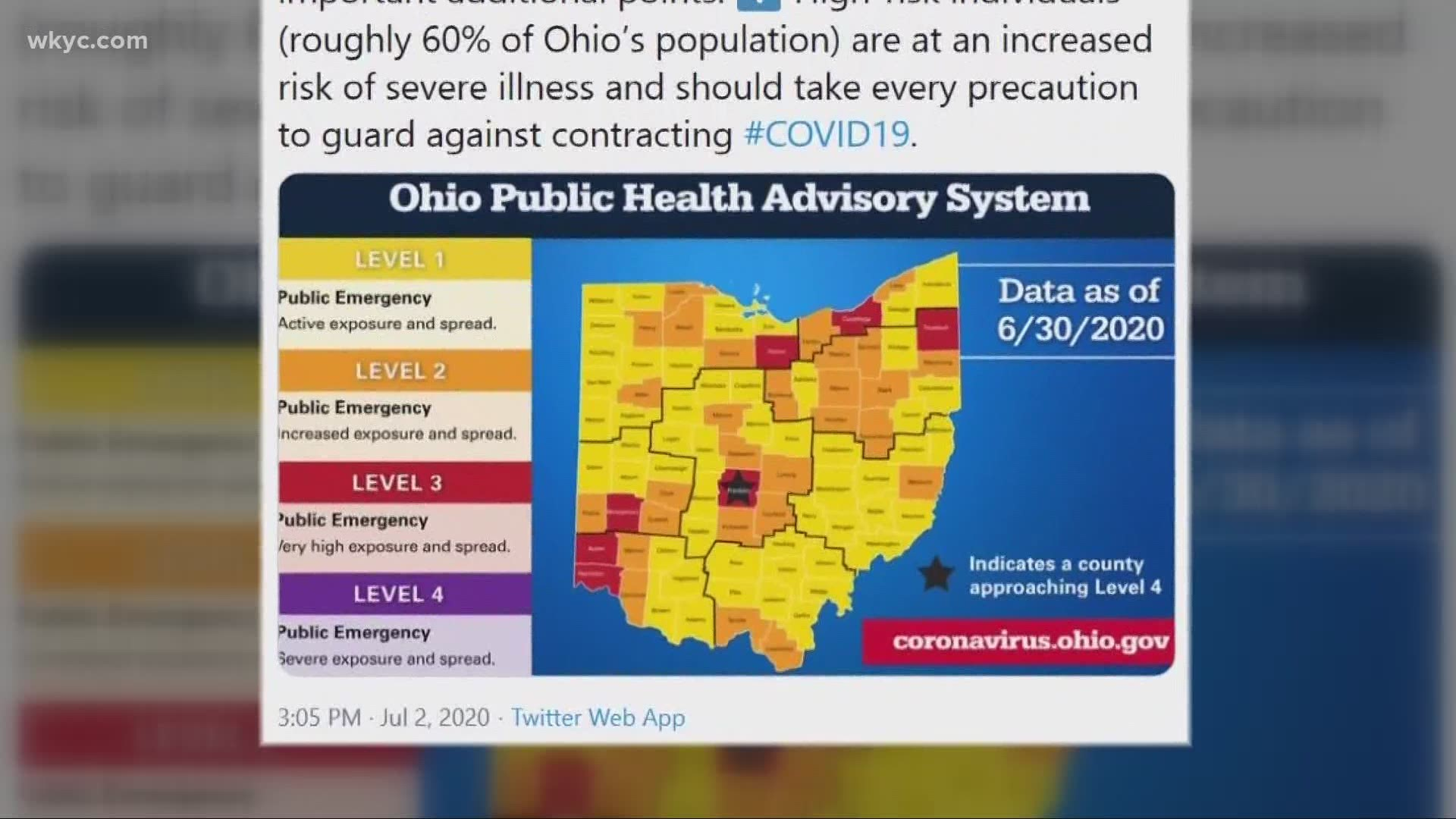 Gov Dewine Unveils New Color Coded Coronavirus Alert System Wkyc Com