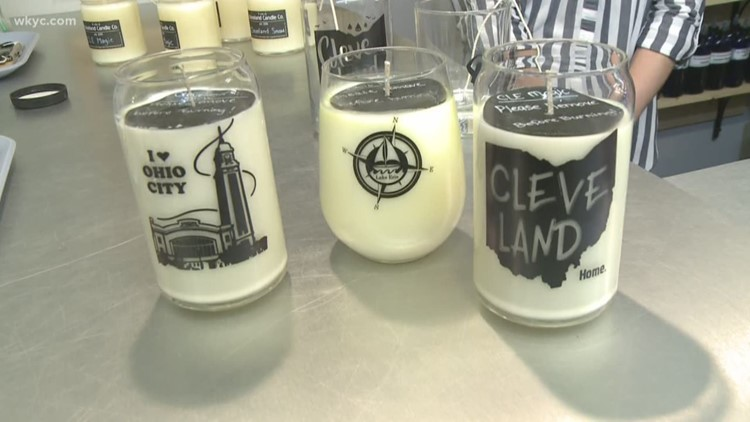 We mix our own scents at the Cleveland Candle Co.