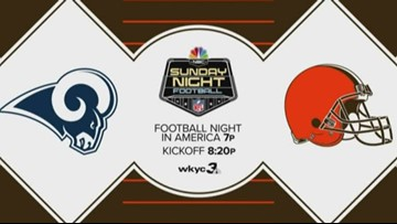 Cleveland Browns vs. Los Angeles Rams: Sunday Night Football game to air on Channel 3
