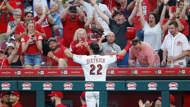 Watch: Cleveland native Derek Dietrich smashes three home runs in Reds' win over Pirates