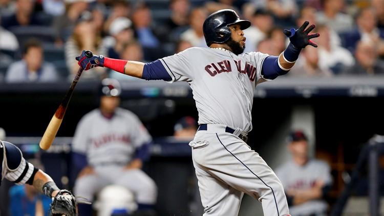 Cleveland Indians INF Carlos Santana hits postseason HR at New York Yankees 2