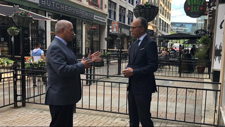 Behind the scenes of Lester Holt's visit to Cleveland for NBC Nightly News
