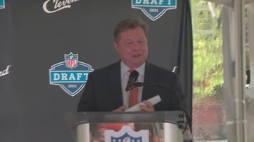 Jim Donovan officially announces Cleveland as site of 2021 NFL Draft