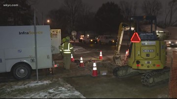 Shelters open amid Elyria gas outage