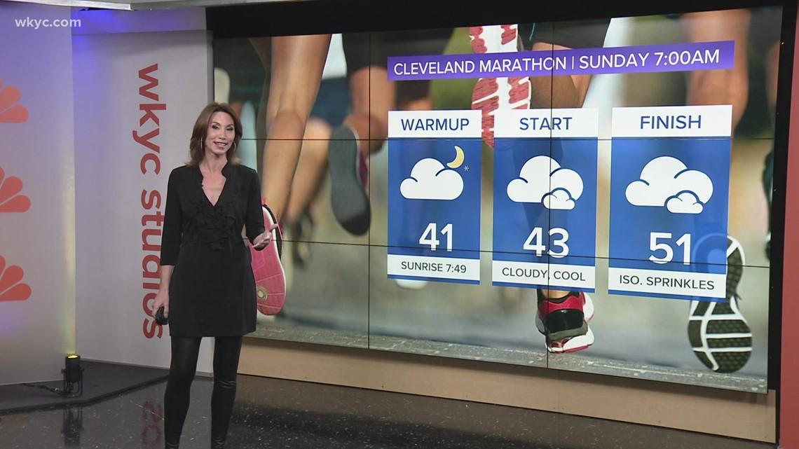 Weather forecast for the 2021 Cleveland Marathon