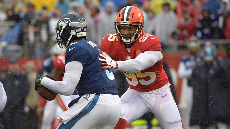 Cleveland Browns DE Myles Garrett gets sack in Pro Bowl