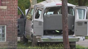 Driver, four children injured after crash involving church van and East Cleveland patrol car