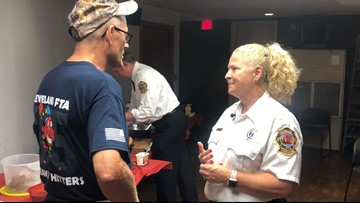 One of Cleveland's 1st female firefighters retires after more than 3 decades on job