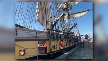 Sunshine opens up for Saturday's tall ships on Cleveland lakefront!