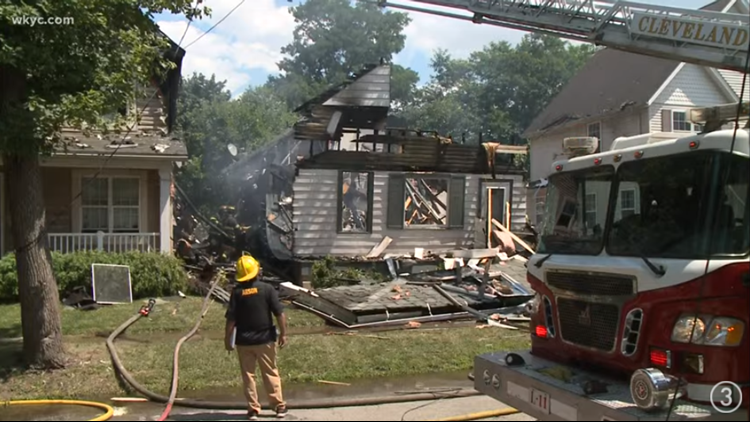 Fire crews respond to house explosion on Cleveland's east side