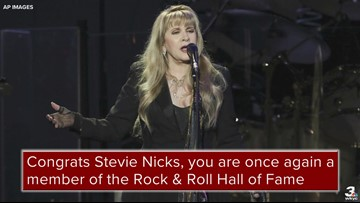 Stevie Nicks to be inducted into the Rock & Roll Hall of Fame on Friday