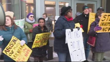 Group protests conditions at Cuyahoga County Jail