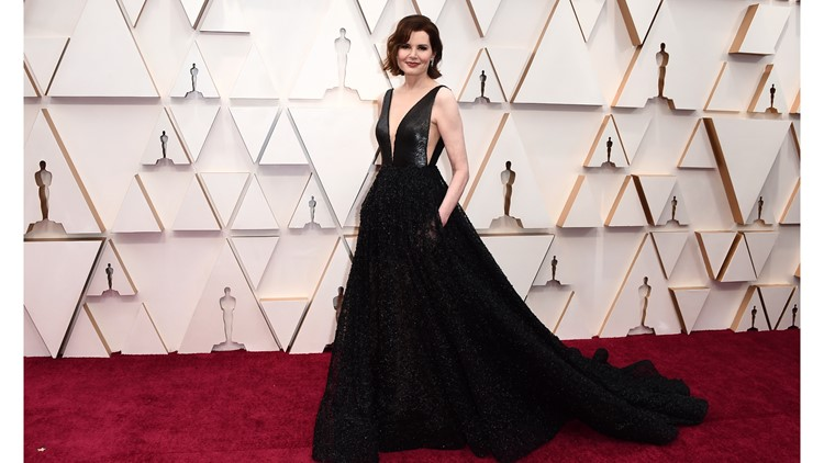 Geena Davis 2020 red carpet Oscars